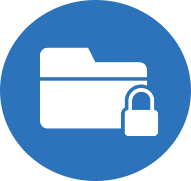 Icon image of a folder with a lock