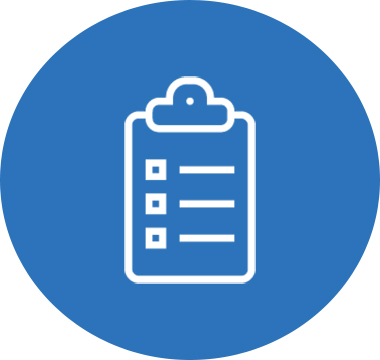 Icon image of a clipboard with a checklist